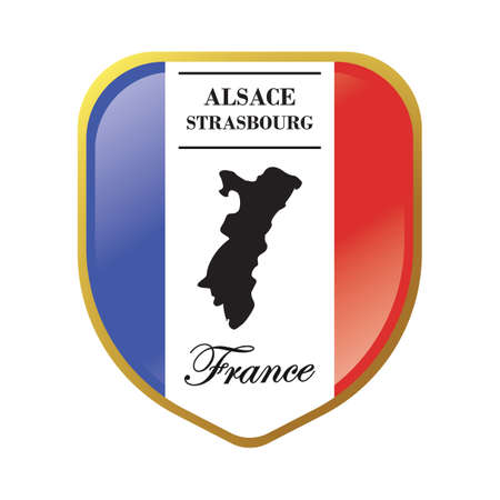 Alsace map label