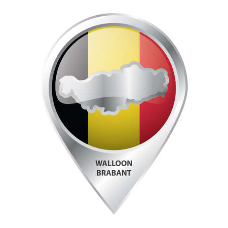map pointer with walloon brabant map