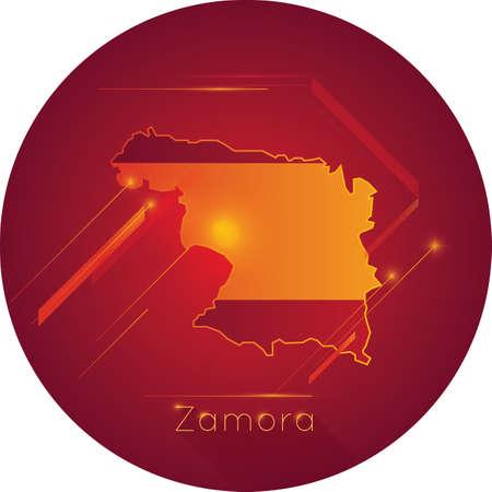 zamora map Ilustração
