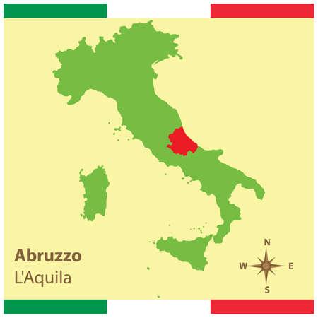 地図イタリア アブルッツォ州