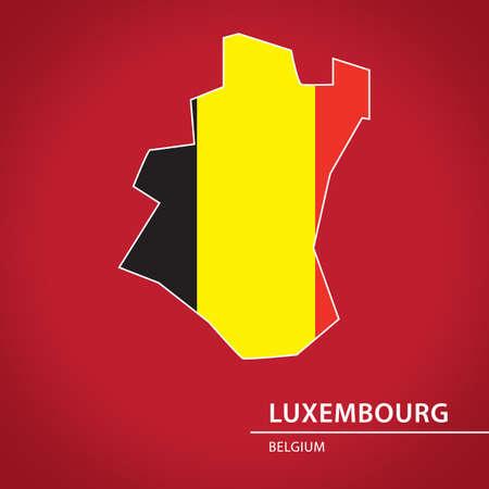 Luxemburg kaart Stockfoto - 81601164