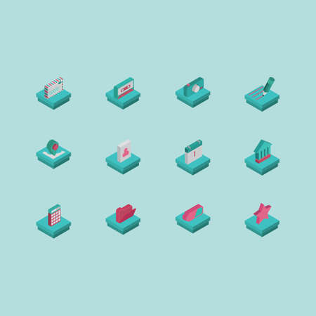 collection of technology icons 일러스트