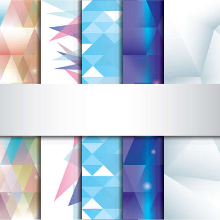 Set of faceted backgrounds