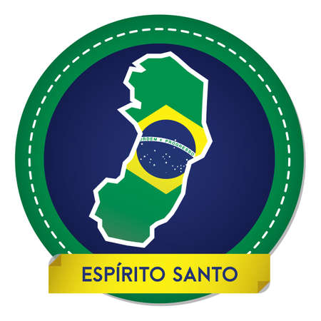 espirito santo map sticker Banque d'images - 106669195