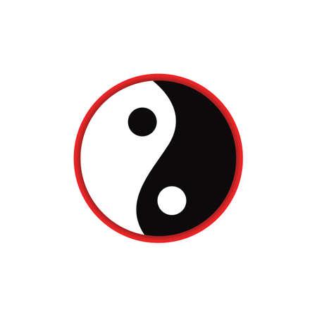 yin yang Ilustração