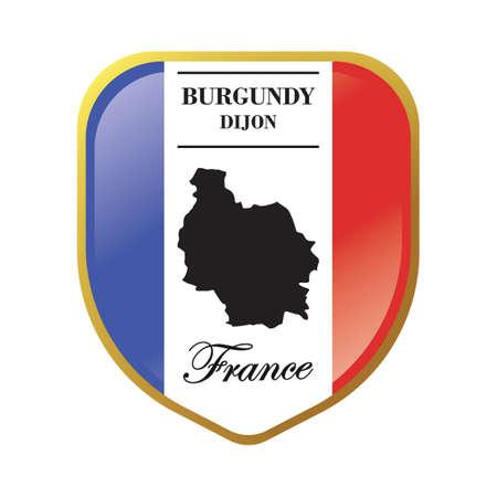 burgundy map label Ilustração