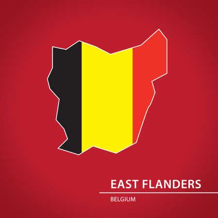 East flanders map Иллюстрация