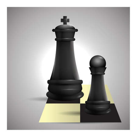Chess pieces Иллюстрация