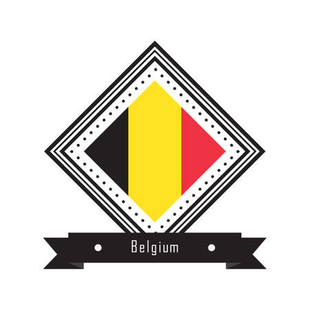 belguim flag label 向量圖像