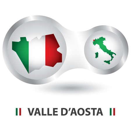 Carte de valle d'aosta Banque d'images - 81590192