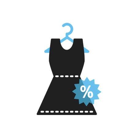 dress with percentage sticker