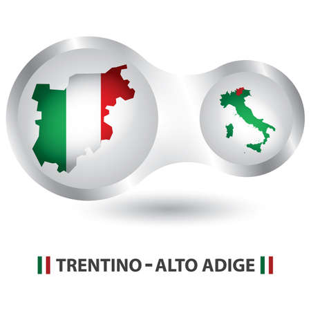 trentino-alto adige map Иллюстрация