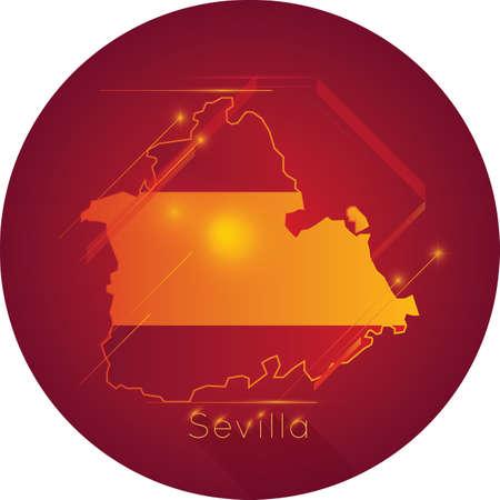 Seville map Иллюстрация