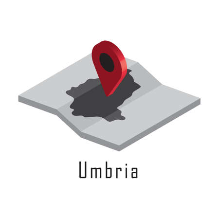 umbria map with map pointer