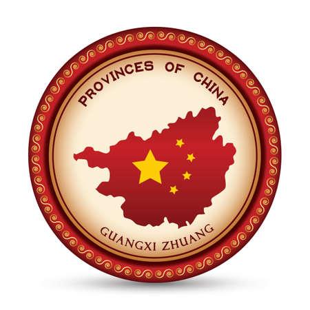 guangxi zhuang map