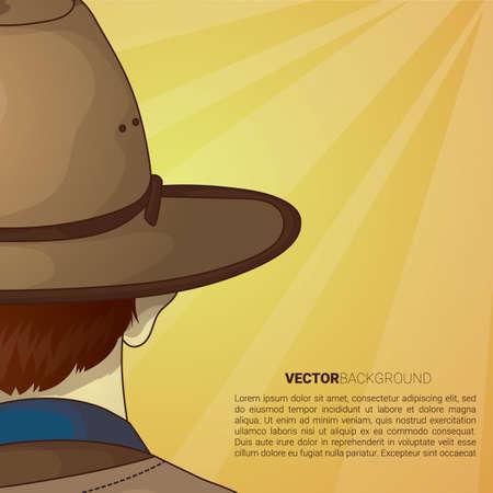 Mann mit Hut Hintergrund Standard-Bild - 81535769