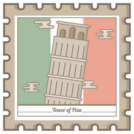 피사의 탑 우편 우표