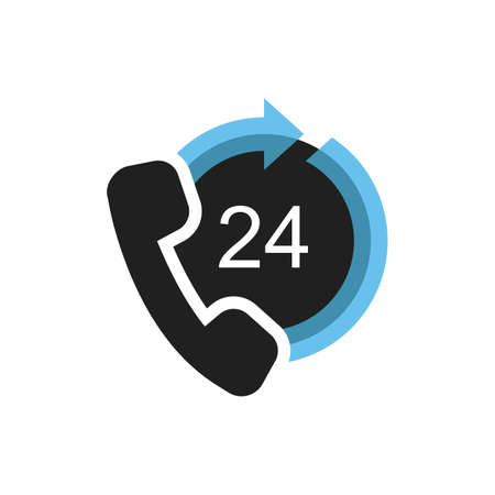 24hr service 向量圖像