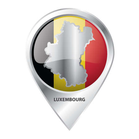 map pointer with luxembourg map