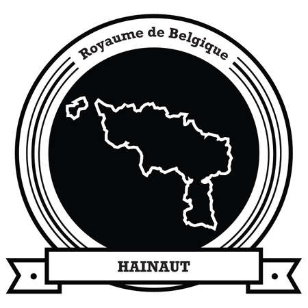 hainaut map label Ilustração