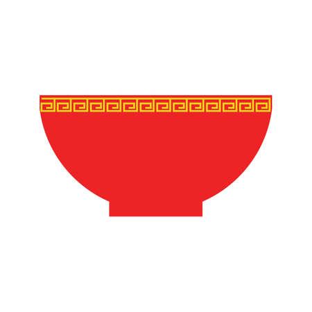 中華丼  イラスト・ベクター素材