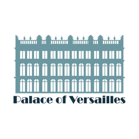 Palacio de Versalles Ilustración de vector