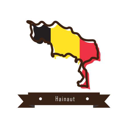 hainaut map Ilustração