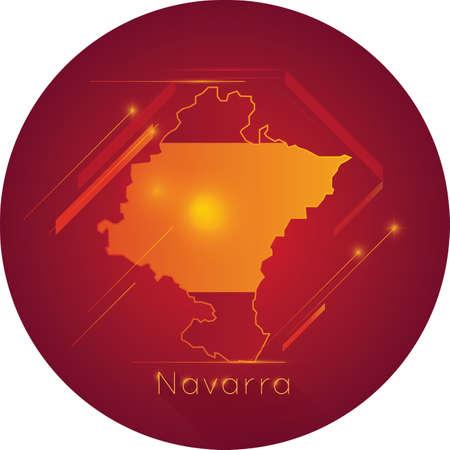 Navarra map Illusztráció