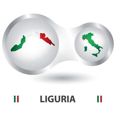 リグーリア州の地図  イラスト・ベクター素材