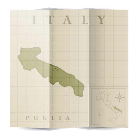 puglia paper map