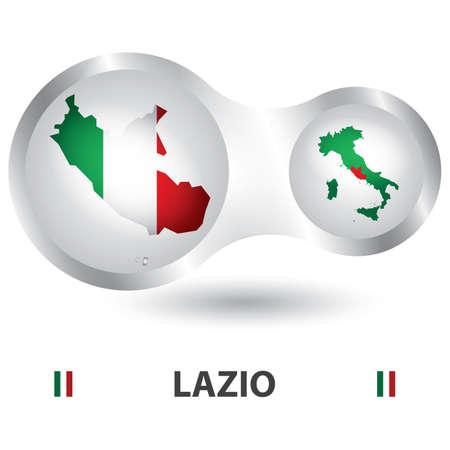 lazio map Illustration