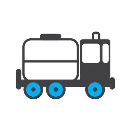 tanker truck Illustration