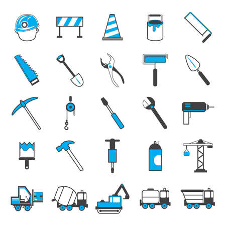 Collection of construction icons Stock fotó - 81601205