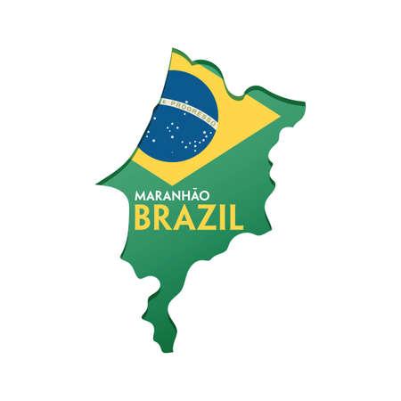 maranhao map Иллюстрация