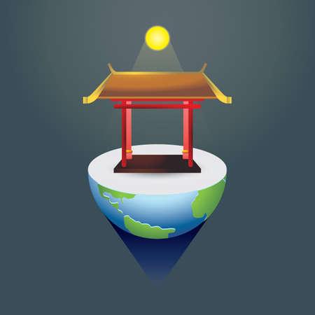 chinese gate 向量圖像