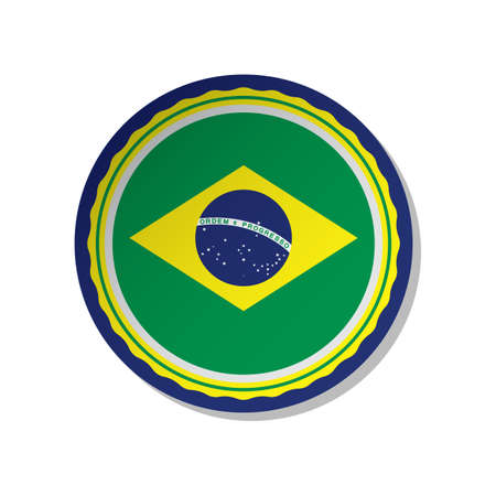 brazil flag label