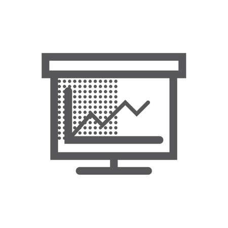 プレゼンテーション ボードとグラフ  イラスト・ベクター素材