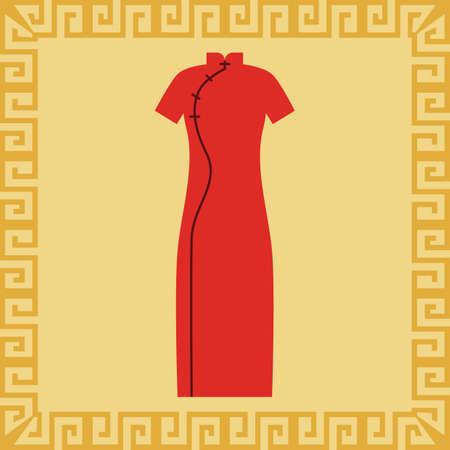 チャイナ ドレス  イラスト・ベクター素材