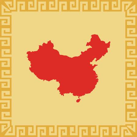 china map 向量圖像