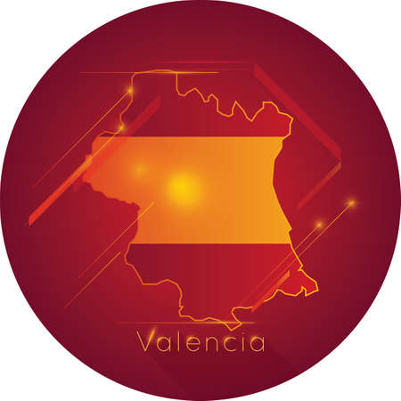 valencia map Illustration