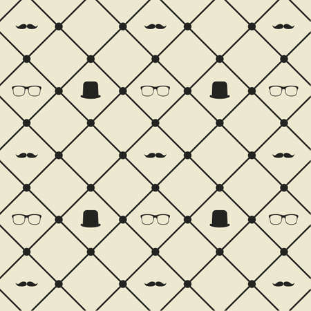 gentleman seamless pattern