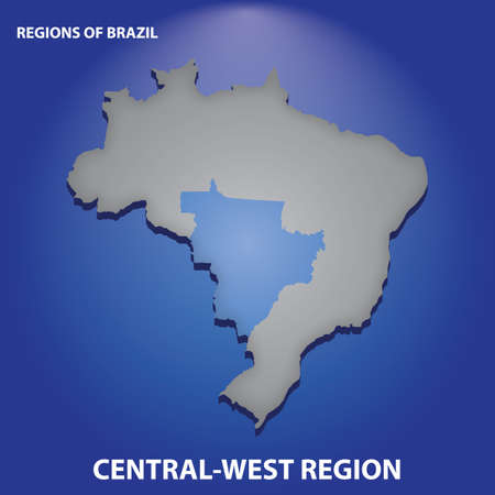 brazil central west region Ilustrace