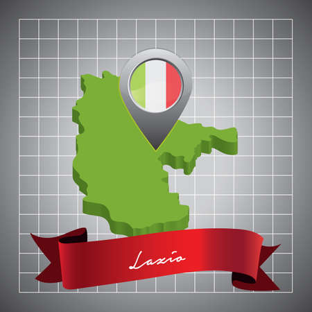 lazio map with map pointer