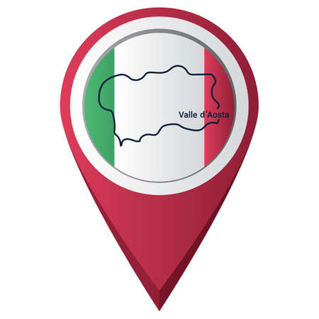 valle d' aosta 맵으로 포인터를 맵핑하십시오.