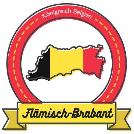 flamisch-brabant map label Illustration