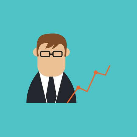 businessman and analysis Ilustração