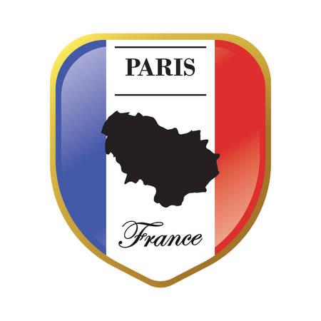 パリ地図ラベル