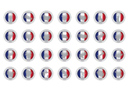 corsica: set of france province icons