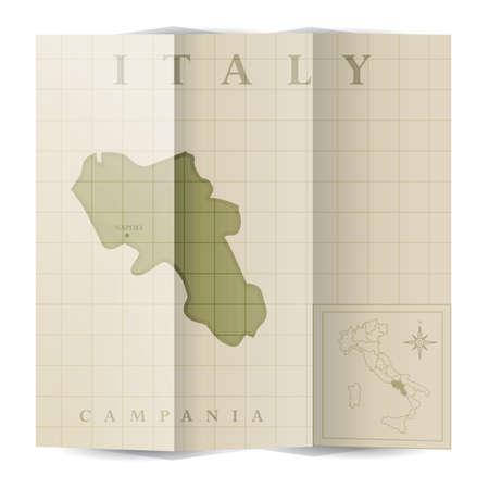 Campania paper map
