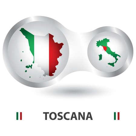 toscana kaart